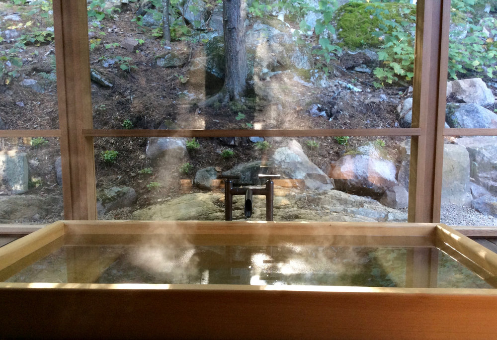A Steaming Soak in the Wooden Ofuro Tub at The Bear Stand
