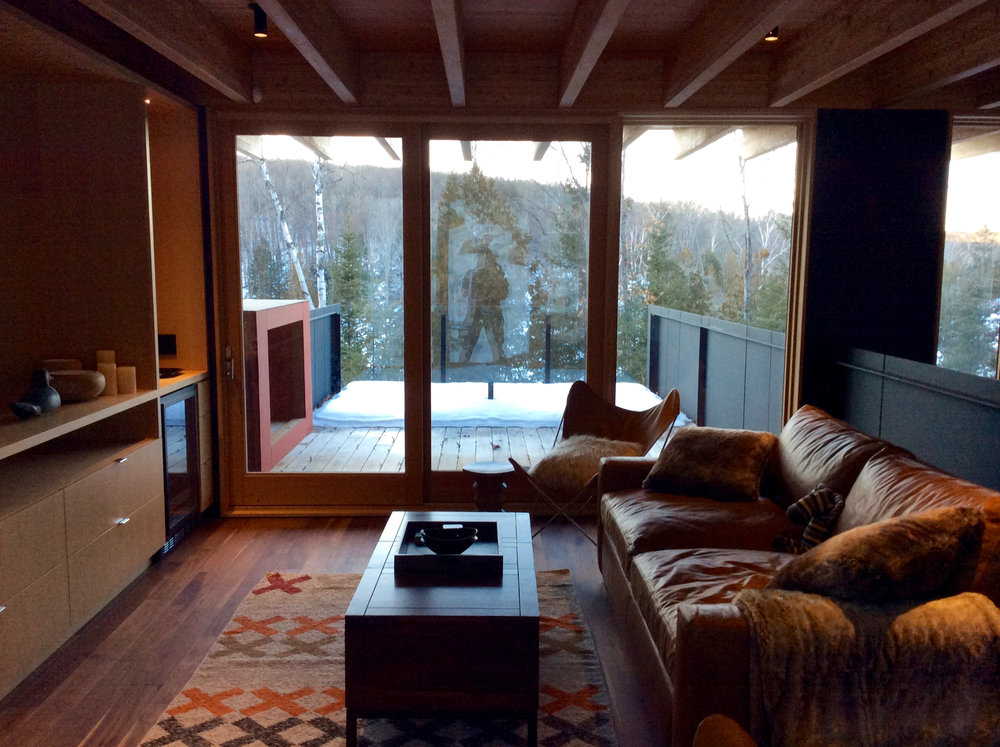 Cabin Country Meets Home Cinema