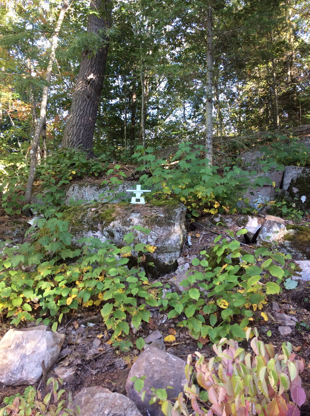 Inukshuk in the Woods