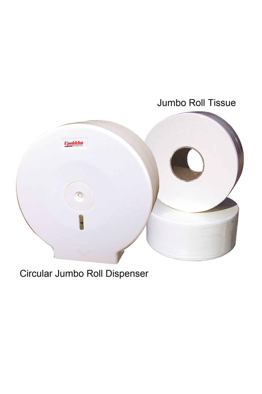 Circular Jumbo Roll Dispenser with Jumbo Roll Tissue