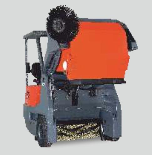 Diesel Operated Ride on Road Sweeper Machine