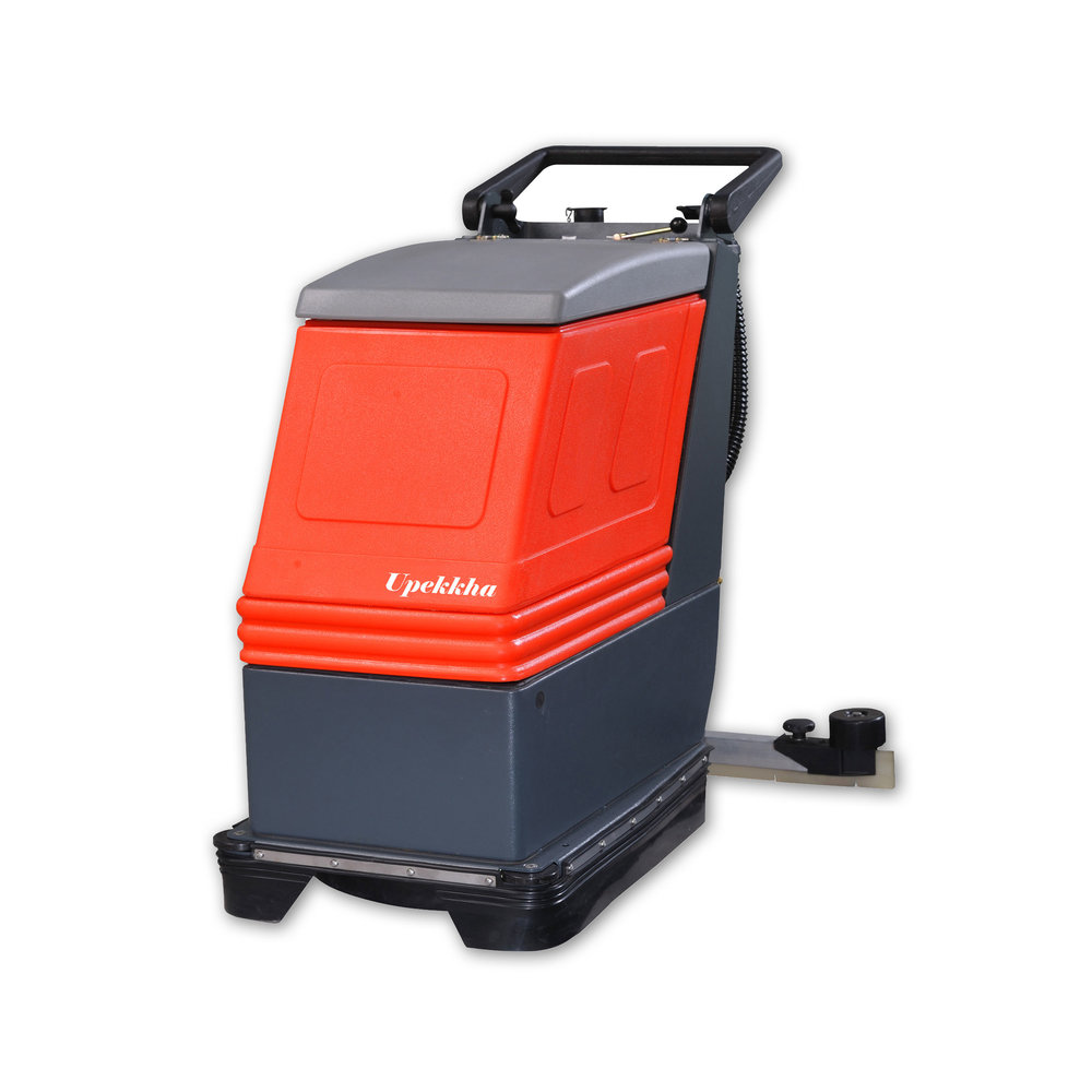 Upekkha™ RootsScrub E430   A mains operated automatic scrubber drier that is suited for quick, economical and effective cleaning. Main features includes wet scrubbing and vacuuming to spotlessly clean in one operation.  Designed in Germany & made in India, this is the updated model of the original product that was manufactured in the 1980s which is still being used till today!  Cleans up to 1,700 sq meter per hour!  Highly recommended!