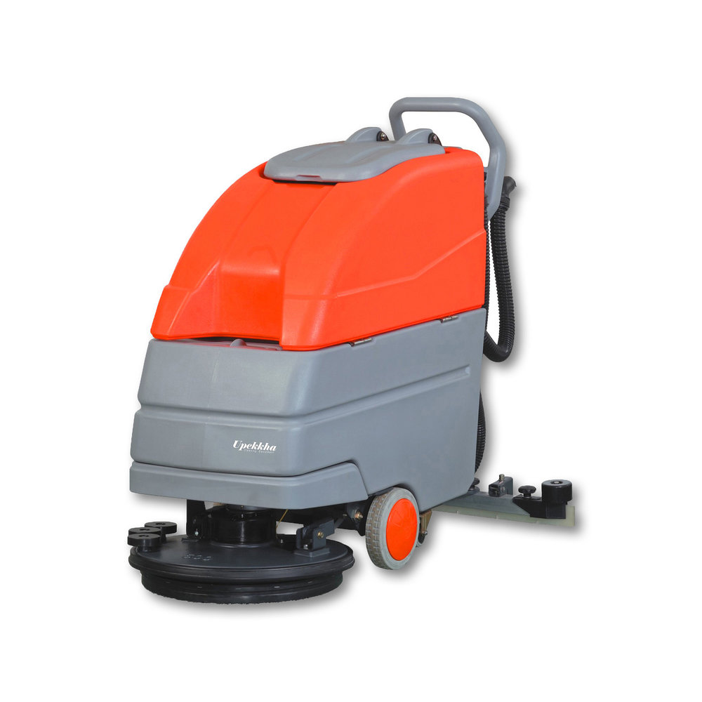 Upekkha™ RootsScrub   B6050   This floor scrubber dryer machine is the big brother to the Upekkha™ RootsScrub E430, a bigger version with a built in rechargeable battery!  The best hand pushed floor scrubber dryer that you can get for durability and high efficiency!  Cleans up to 23,000 sq feet per hour!
