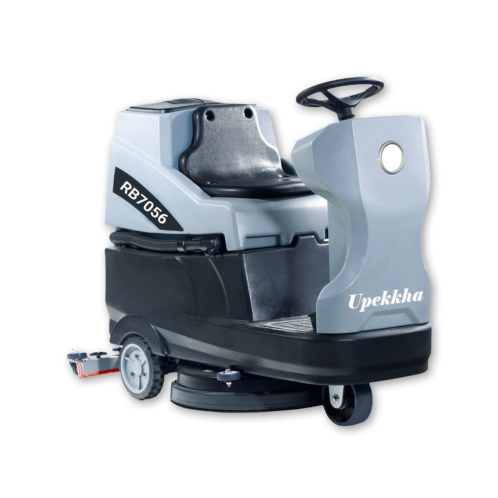 Upekkha™ RB7056   The Upekkha™ is our affordable alternative ride on floor scrubber dryer. Fully battery operated and is able to clean up to 33,600 sq feet per hour!