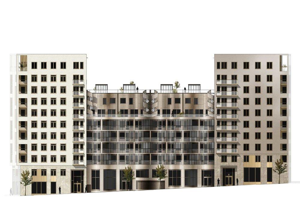 Organellen.  Moderna material möter klassisk stad.