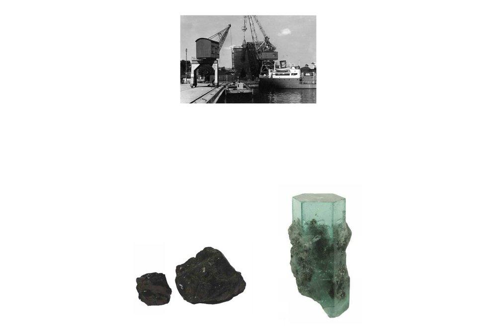 Södra Värtahamnen.  Inspiration från platsens historia som kolupplag.