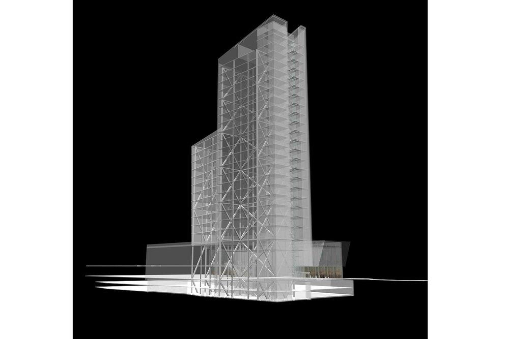Kista Residence Tower.  Vinnande förslag.