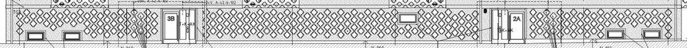 Mönster . Utdrag från bygghandlingen visar hur tegelfasadens mönster är designat.