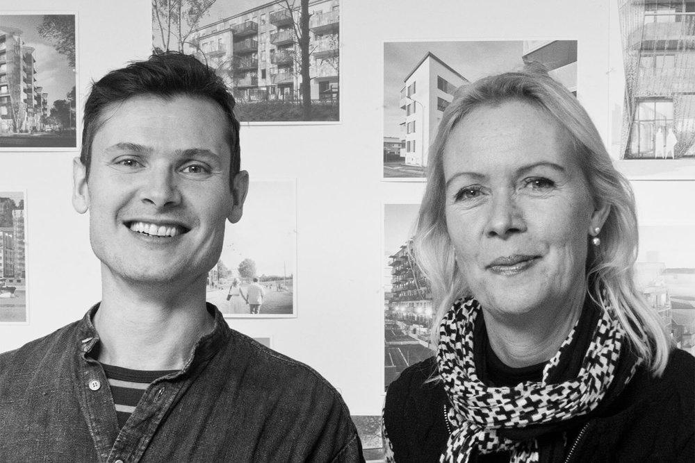 glada arkitekter . Otto Rosu och Johanna Pålstedt ritade Mandelpilen.