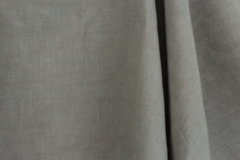 sage green vintage linen fabric drop