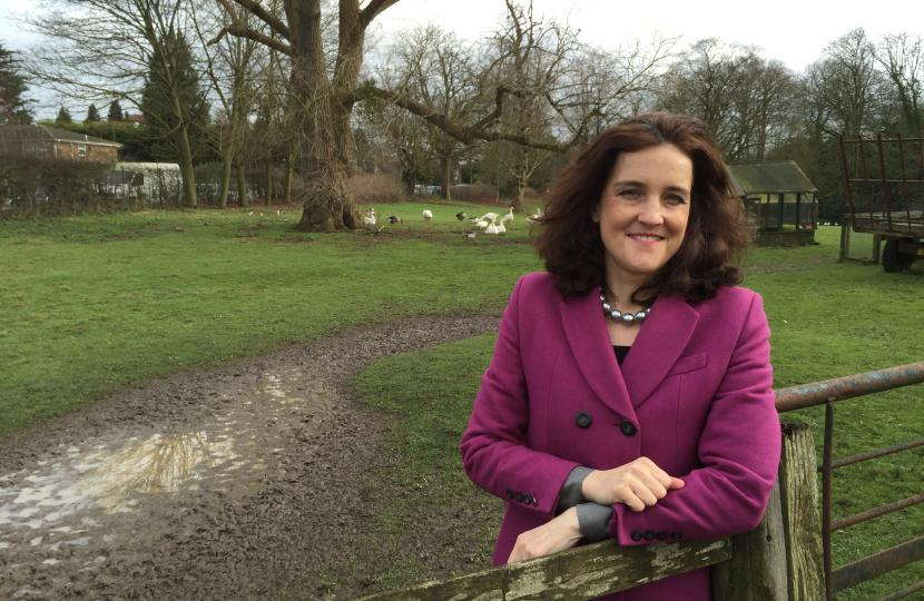 Theresa Villiers MP at Whalebones Park
