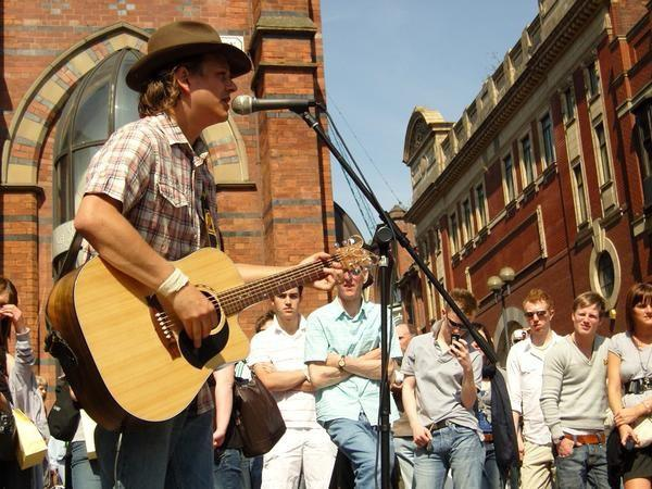 I was a busker for four years. - My acoustic covers were featured on National TV and Radio.YouTube clips of my busking days have hundreds of thousands of views - Check them out.(You might have even seen me on Don't Tell The Bride.)