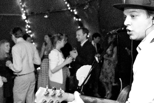 A packed dance floor at my friend's marquee wedding in 2016.