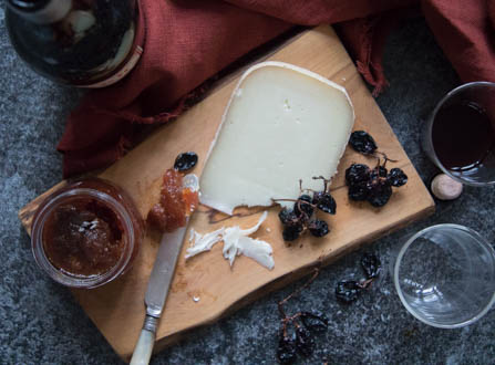ewes milk cheese, fig preserve, red vermouth (1 of 1).jpg