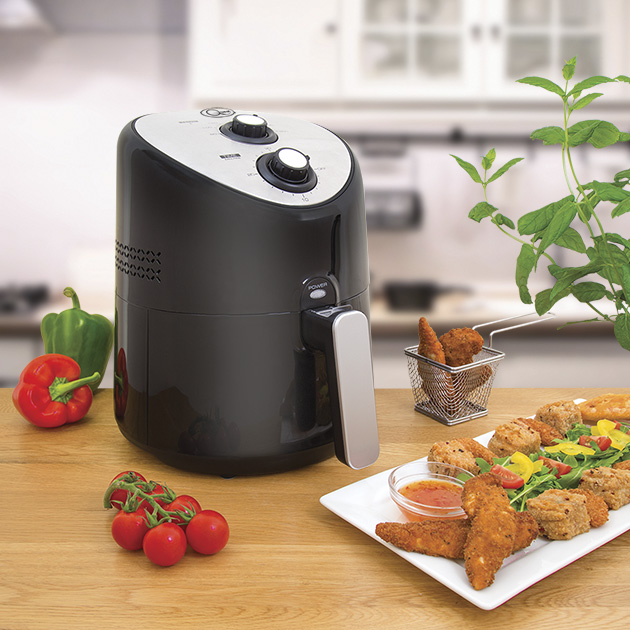 2.5L Thermo Air Fryer - Dynamic air technology delivers all the flavour but with minimal oil. Extra large 2.5L basket with dynamic air technology ensures your food is crisp on the outside and perfectly cooked on the inside.