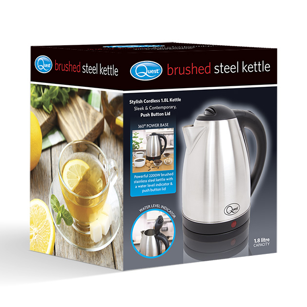 Brushed Steel Kettle box