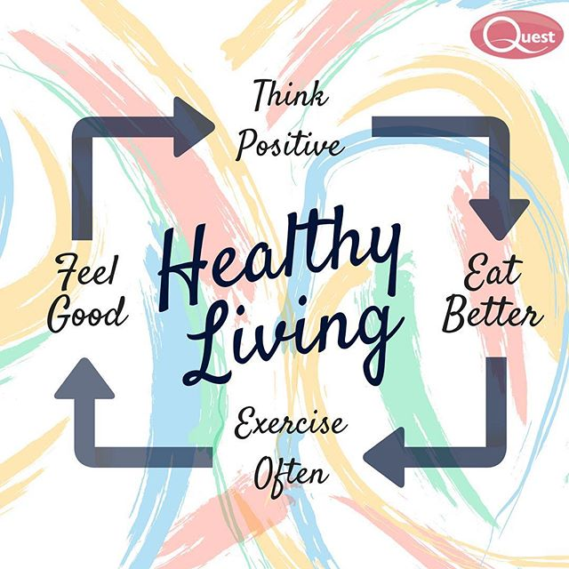 The steps for a healthy living are: Think positive, eat better, exercise often and feel good! #questappliances #fridayfunday #healthy #lifestyle #instagood #motivation #feelgood #positive