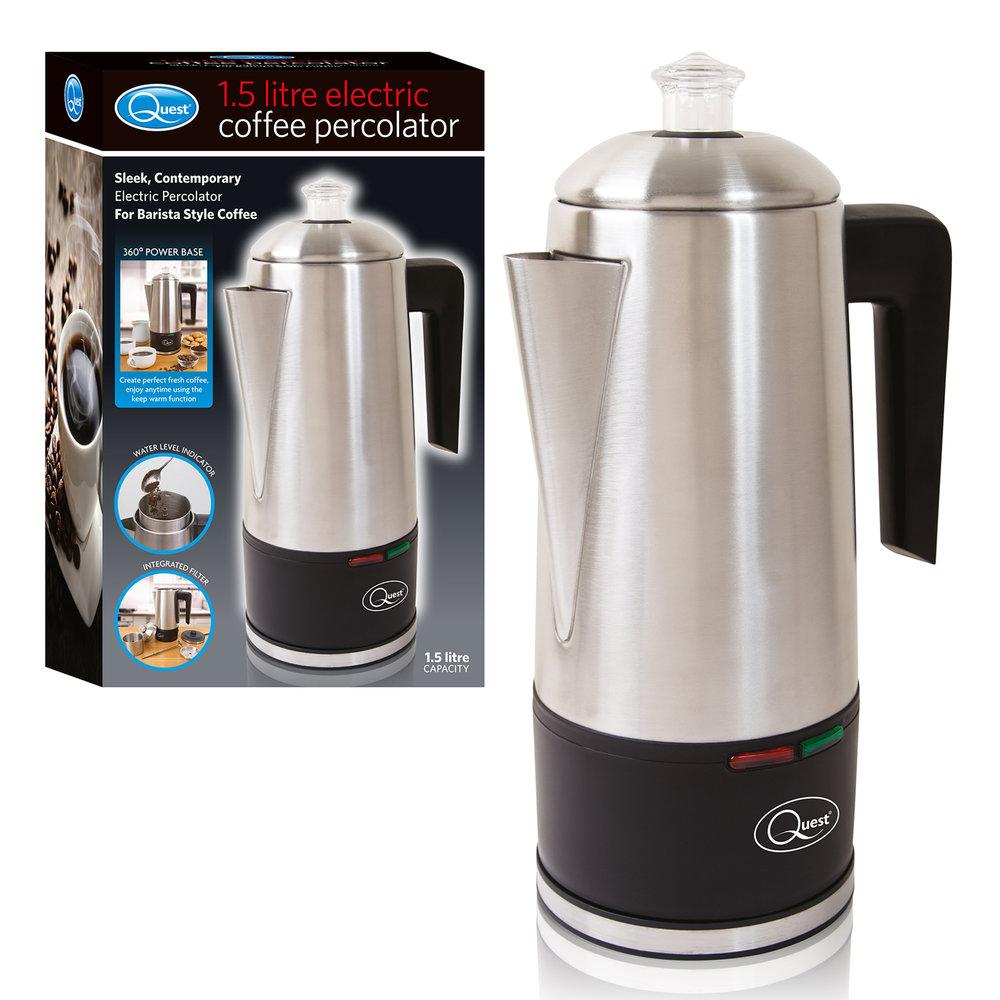 1.5L Electric Coffee Percolator and box