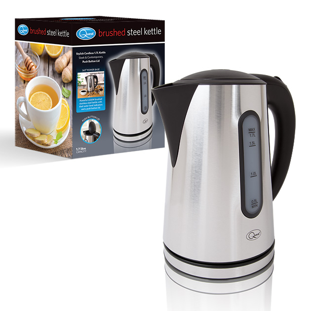 1.7L Brushed Steel Kettle and box
