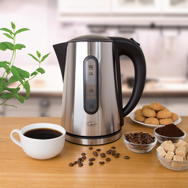 1.7L Brushed Steel Kettle in the kitchen