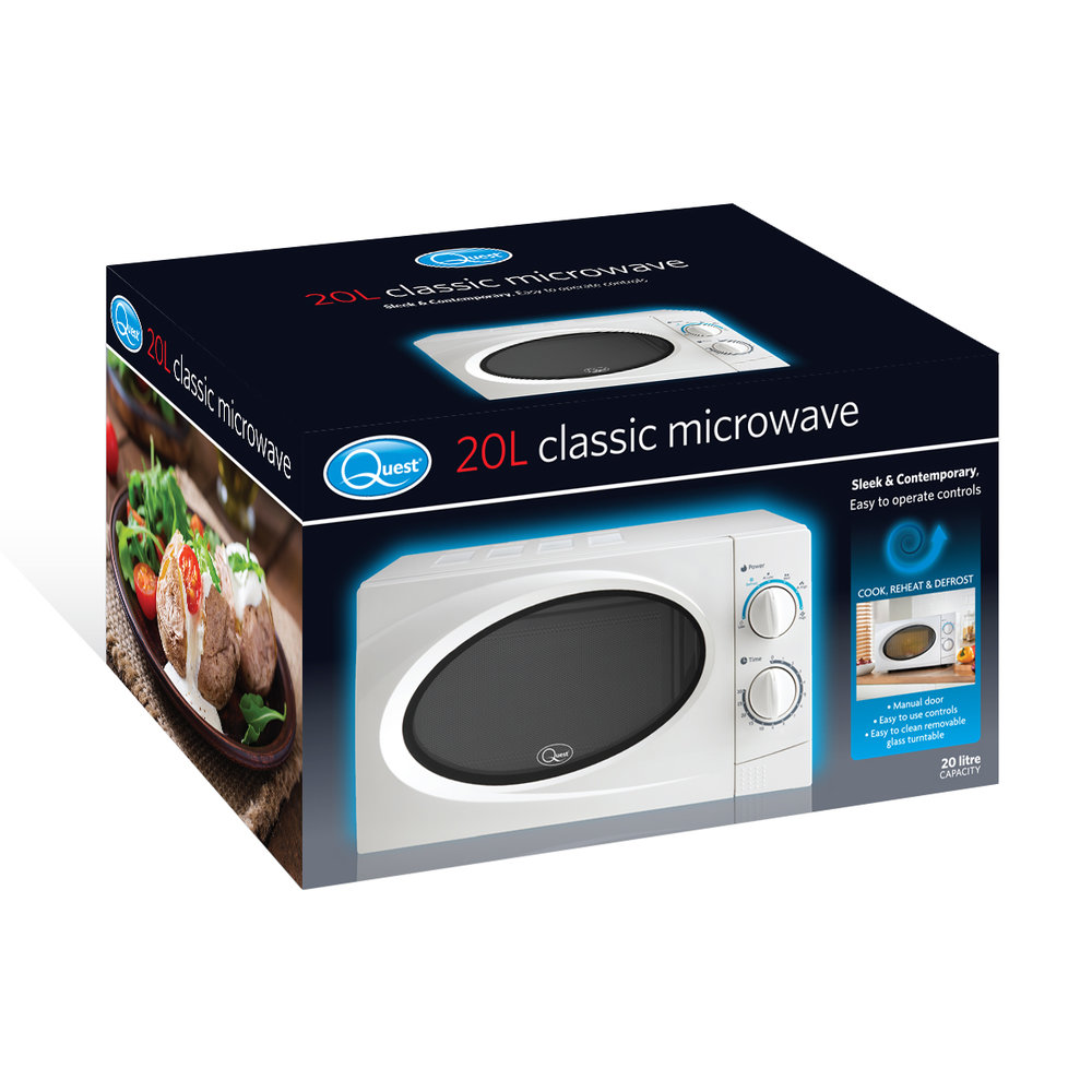 White 20L Classic Microwave box