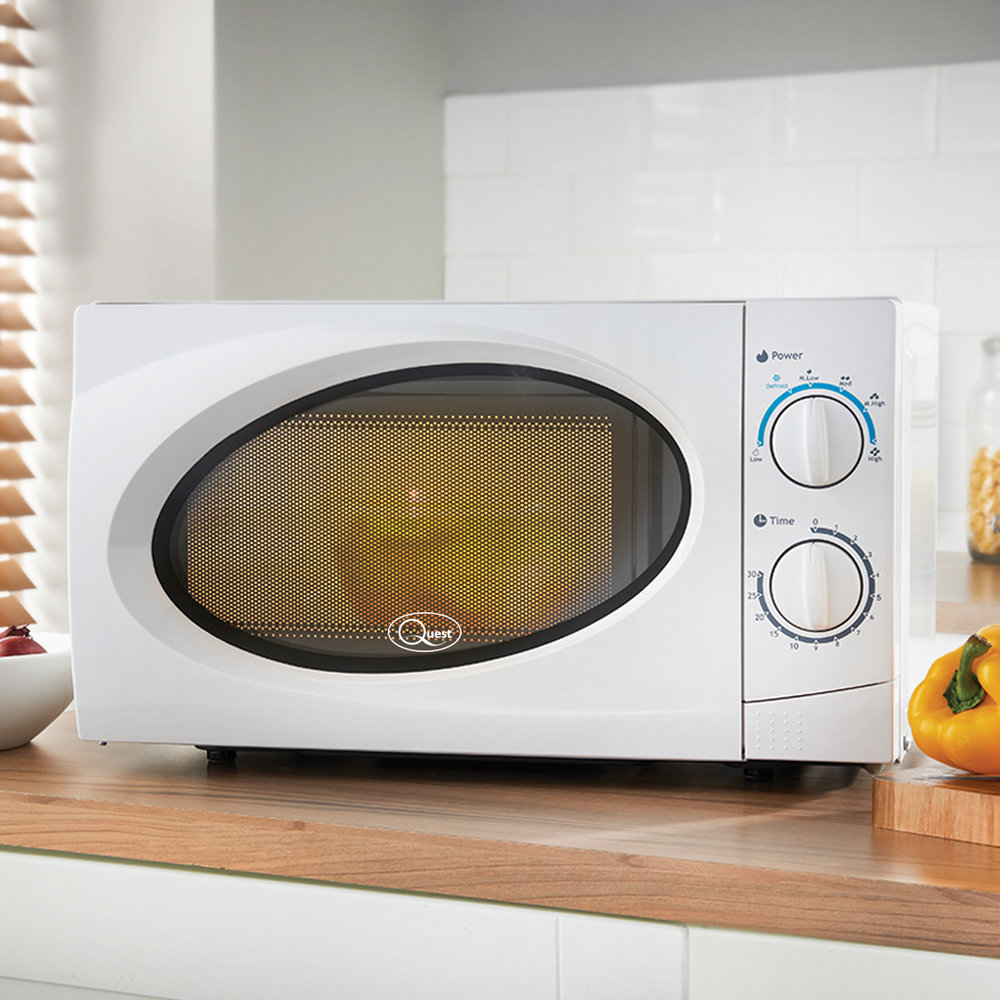 White 20L Classic Microwave in the kitchen