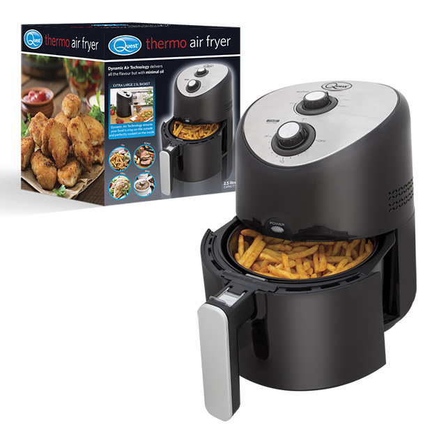 2.5L Thermo Air Fryer and box