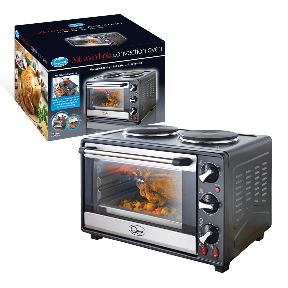 Twin Hob Convection Oven and box