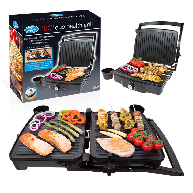 180°Duo Health Grill and box