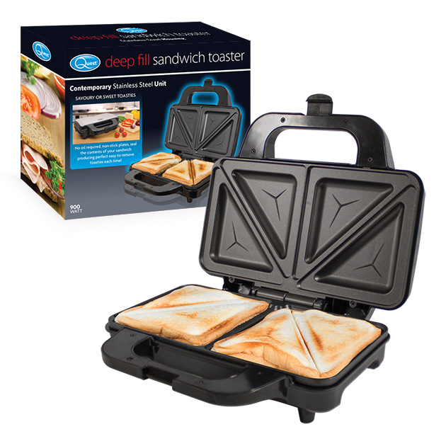 Deep Fill Sandwich Toaster and box
