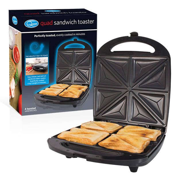 Quad Sandwich Toaster and box