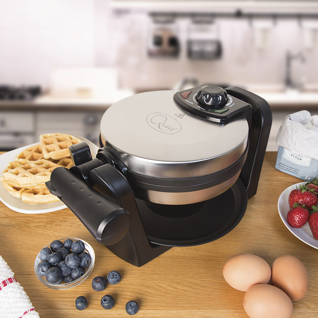 Rotating Waffle Maker on the kitchen table