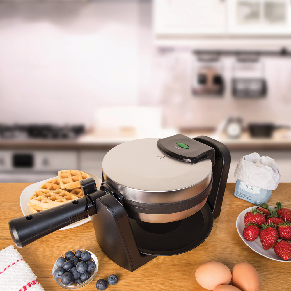 Rotating Waffle Maker in the kitchen