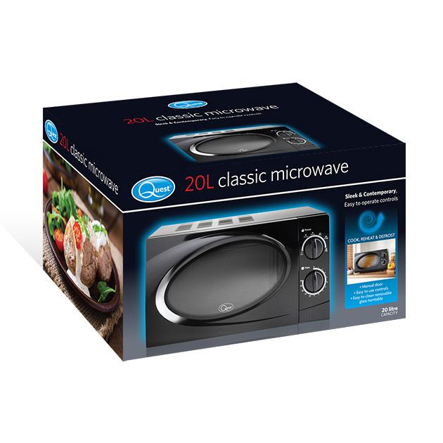 Black 20L Classic Microwave box