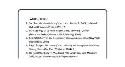 Works cited - Don't just read our analysis - explore the bibliography for wider reading.