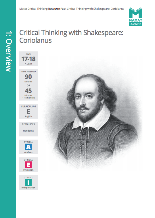 English   Critical thinking with shakespeare: Coriolanus   Download >