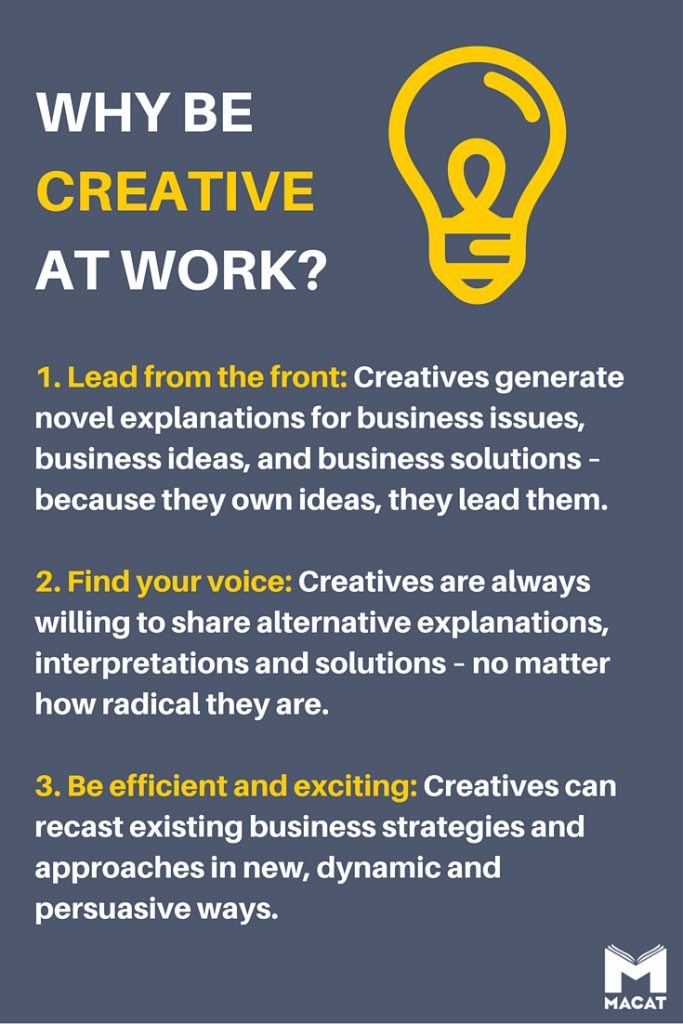 Why be creative at work?