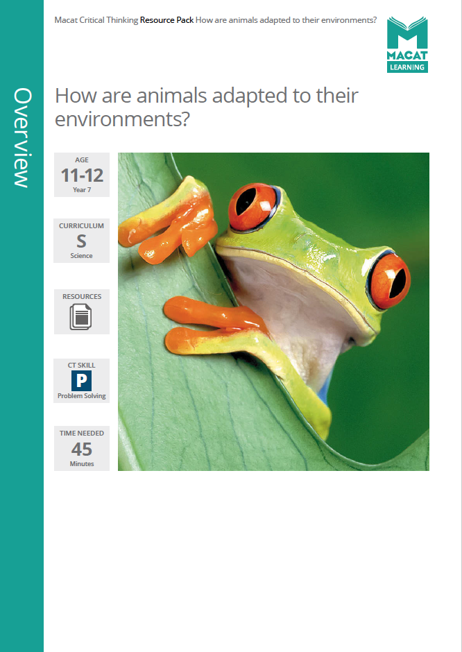 Science   How are animals adapted to their environments?   Download >