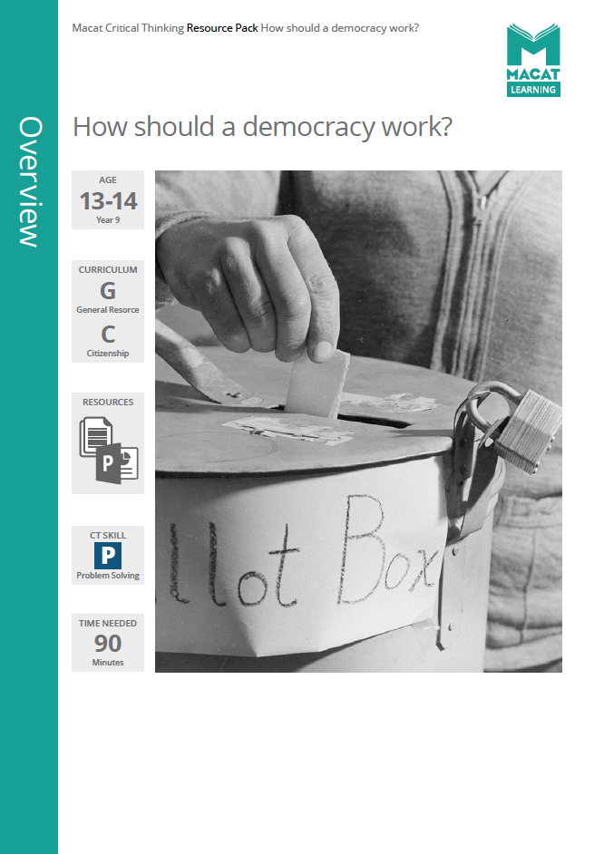 Citizenship   How should a democracy work?   Download >