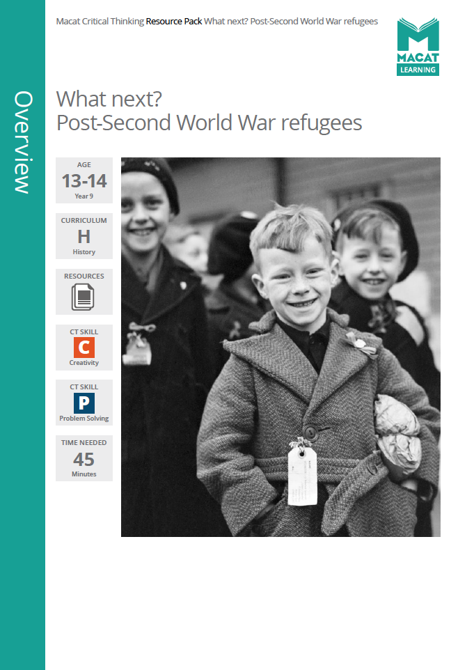 History   What next? Post-Second World War refugees   Download >