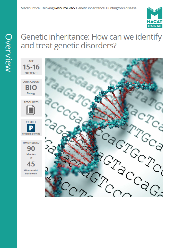 Biology   Genetic inheritance: How can we identify and treat genetic disorders?   Download >
