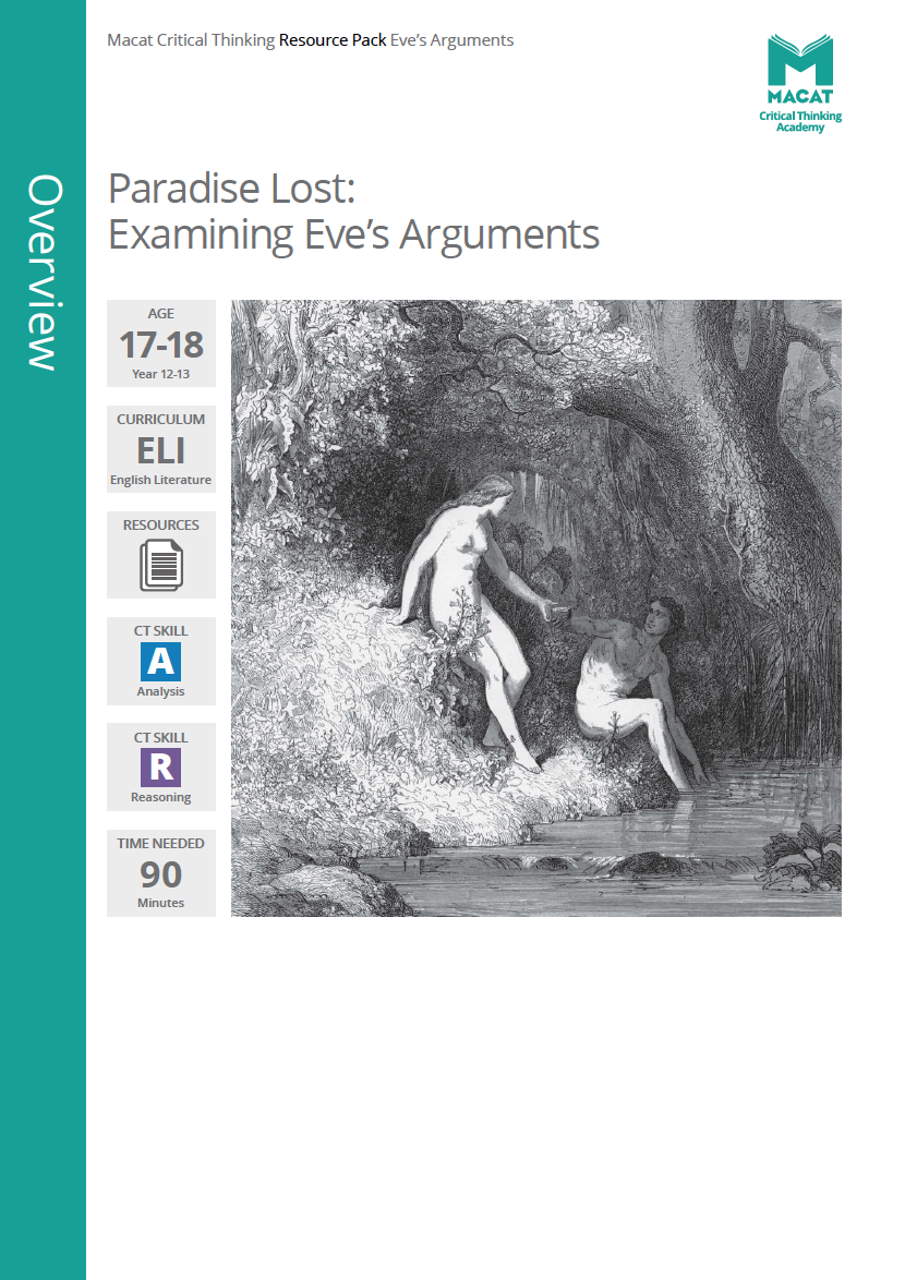 English Literature   Paradise Lost: Examining Eve's Arguments   Download >