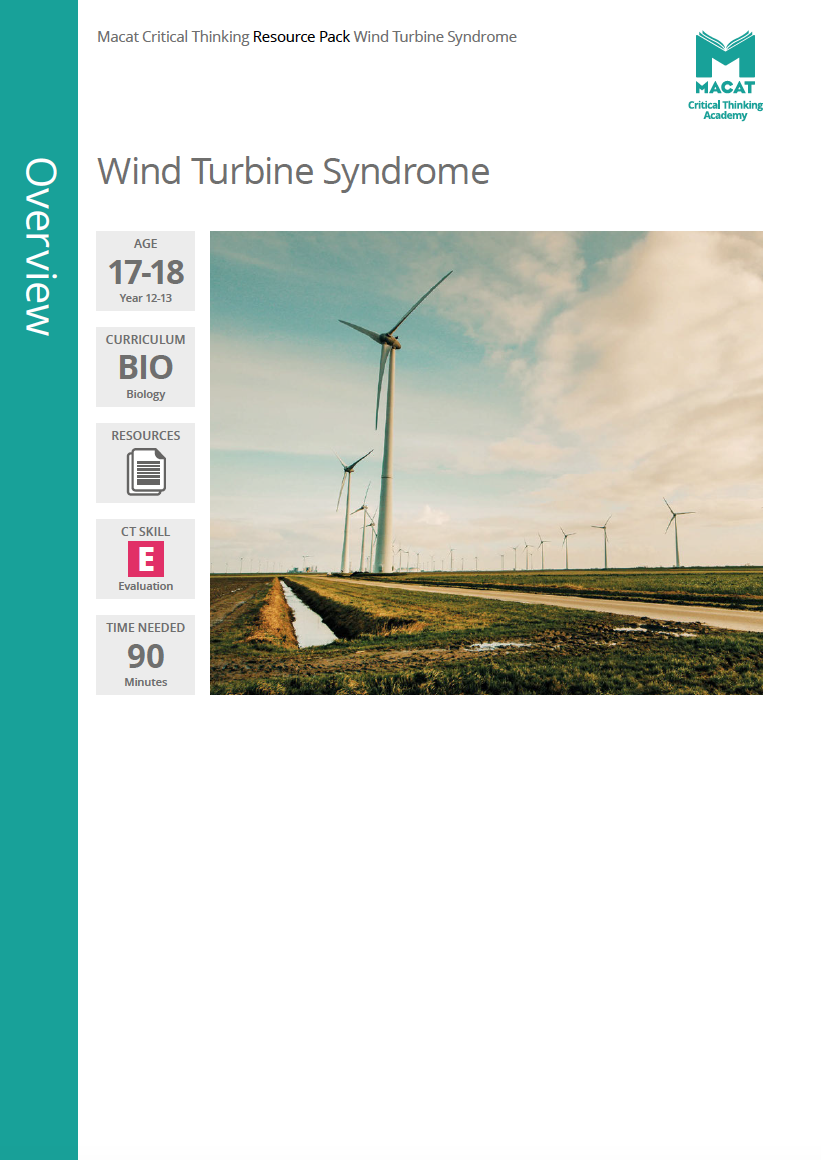 Biology   Wind Turbine Syndrome   Download >