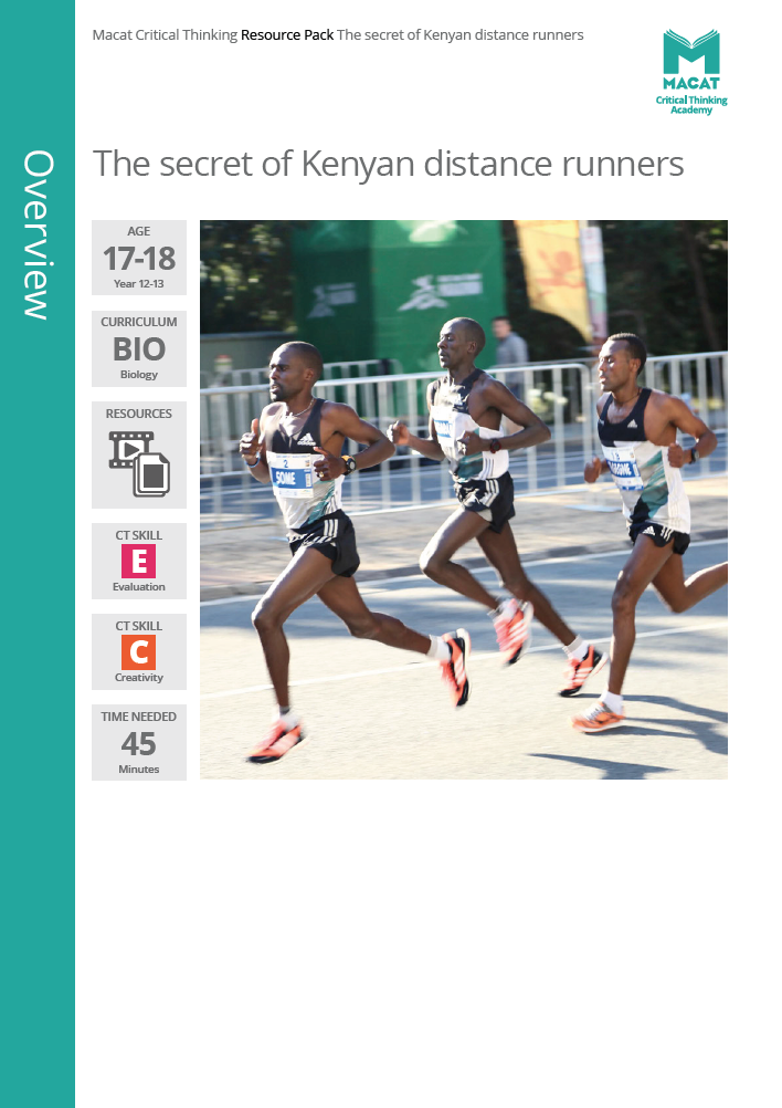 Biology   The secret of Kenyan distance runners   Download >