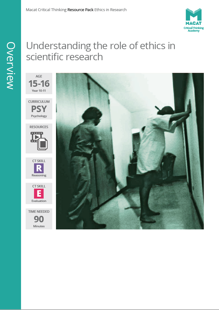 Psychology   Understanding the role of ethics in scientific research   Download >