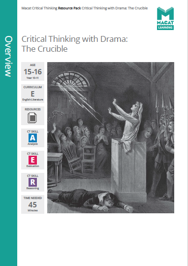 English Literature   Critical Thinking with Drama: The Crucible   Download >