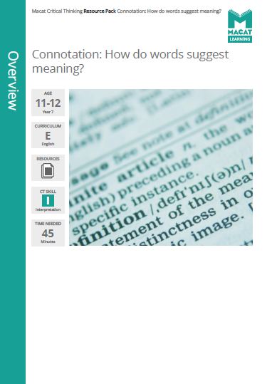 English   Connotation: How do words suggest meaning?   Download >