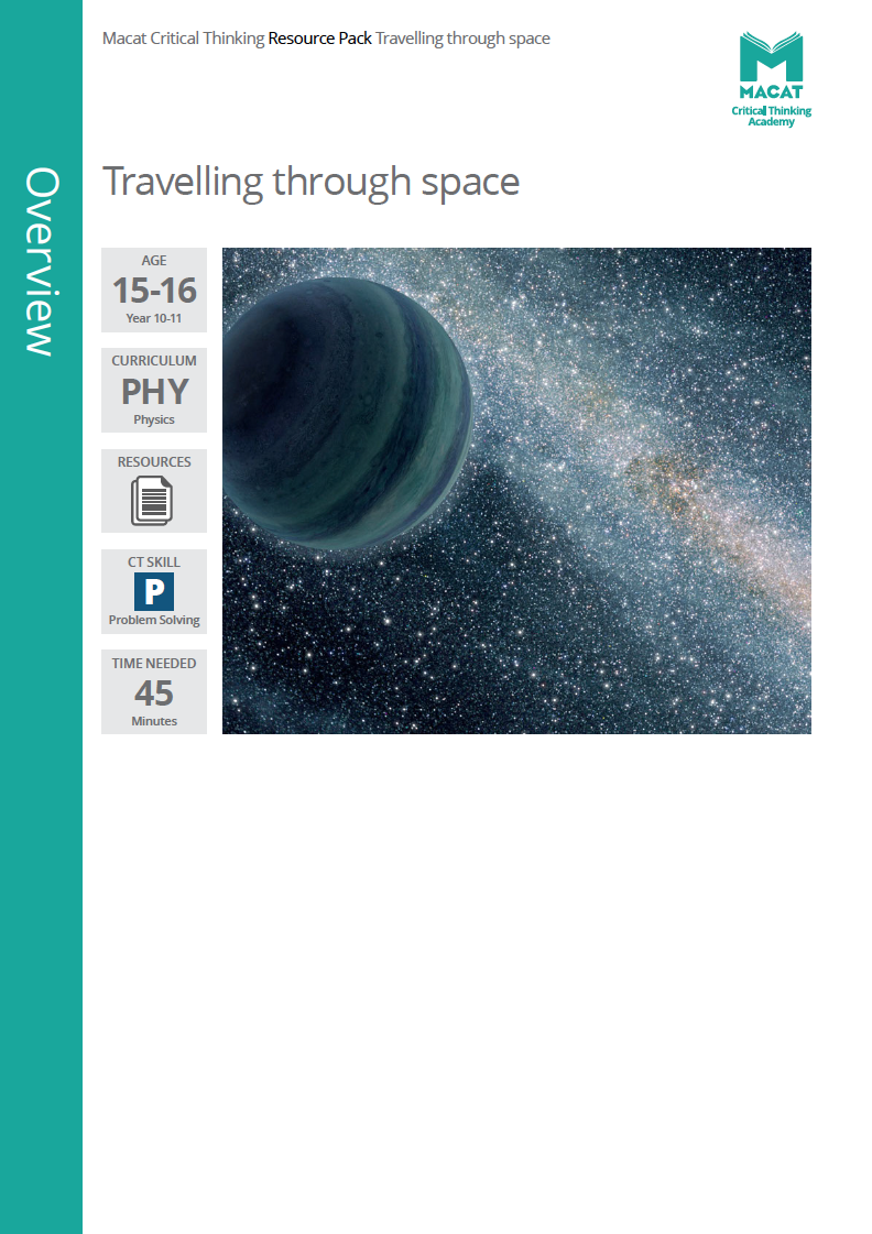Physics   Travelling through space   Download >