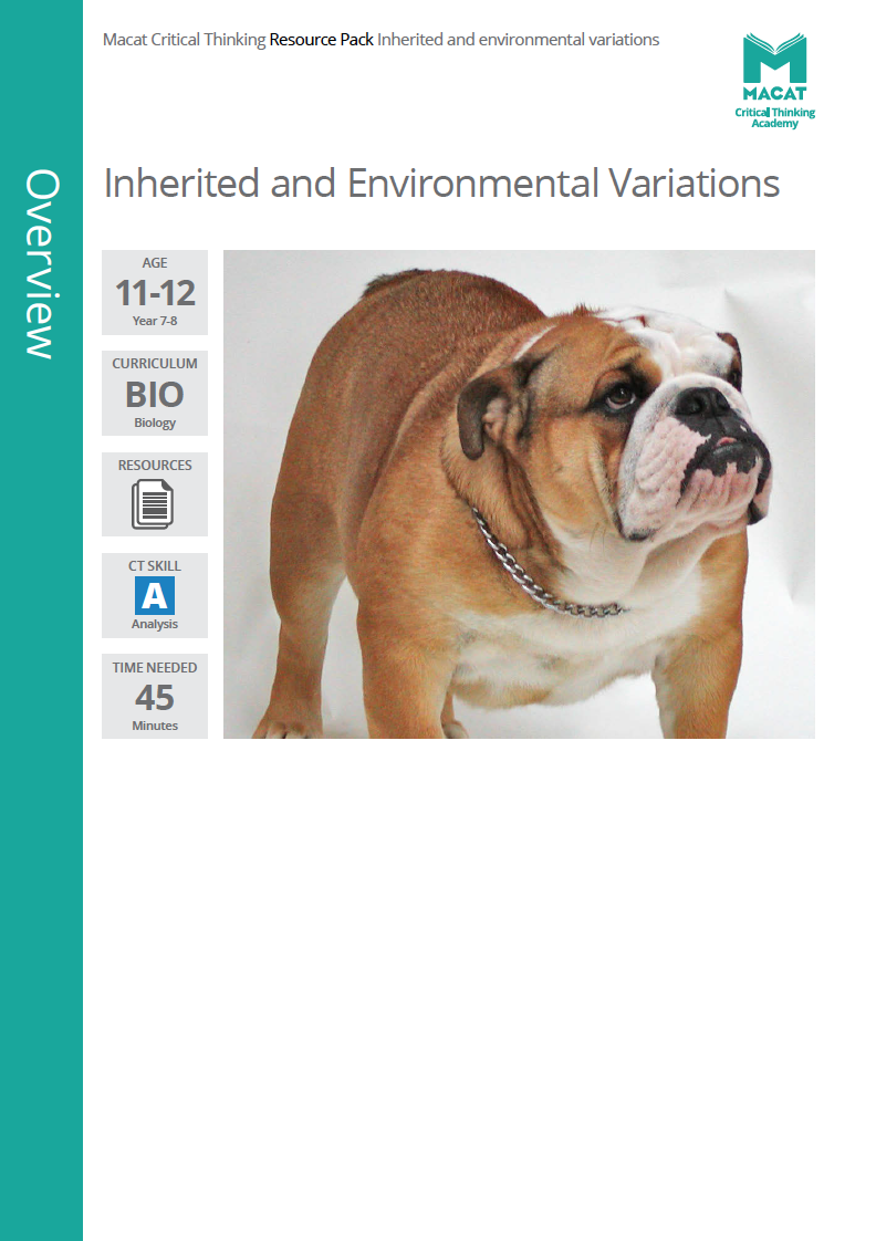 Biology   Inherited and Environmental Variations   Download >