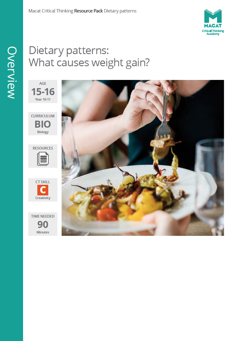 Biology   Dietary patterns: what causes weight gain?   Download >